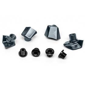 absoluteBLACK Bolt Cover for Dura Ace 9100 incl. Bolts, grey